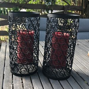 Other - Decorative iron candle holder